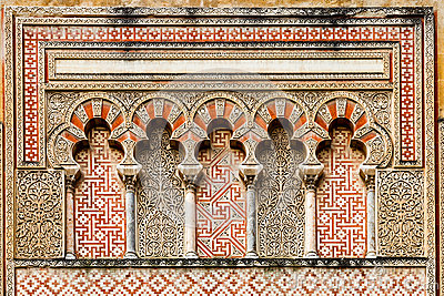 Ancient islamic building decoration