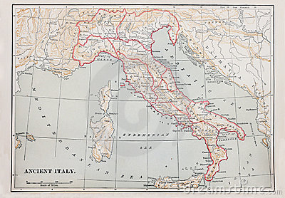 Ancient Italy map