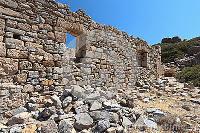 Ancient Itanos area at Crete island, Greece