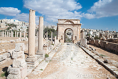 Ancient Jerash ruins