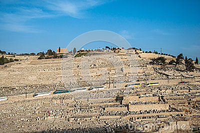 Ancient Jewish Cemetery on The Olive Mountain in Kidron Valley