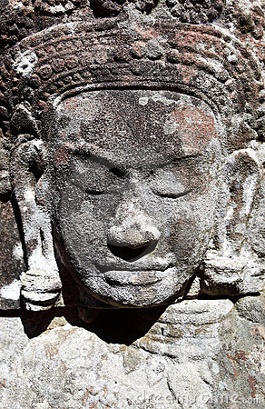 Ancient khmer carving