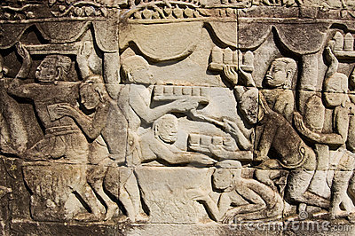 Ancient Khmer carving food trays