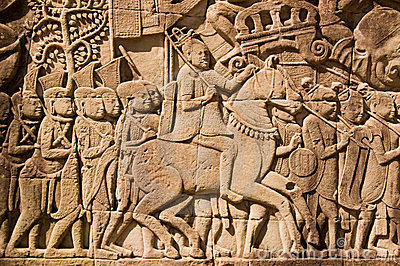Ancient Khmer Military Commander frieze