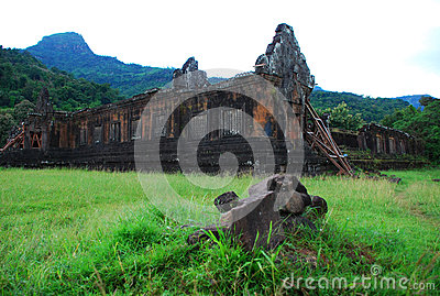Ancient-Khmer ruins of Wat Phou