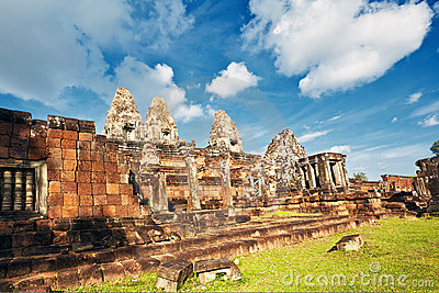 Ancient khmer temple in Angkor Wat complex