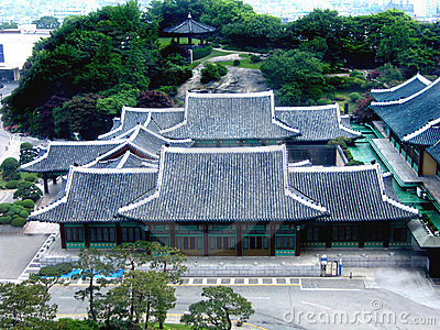 Ancient Korean palace