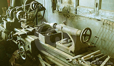 Ancient lathe