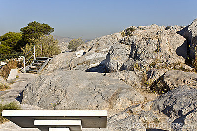 Ancient law court of Areopagus, Athens, Gre
