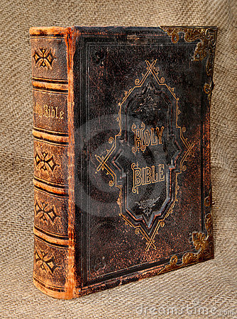 Ancient Leather Bound Holy Bible