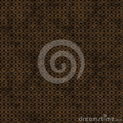 Ancient Leather Scales Seamless Pattern