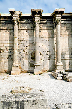 Ancient library of Hadrian, Athens, Greece