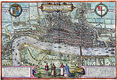 Ancient London map Editorial Photo