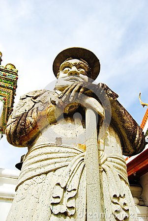 Ancient lord stone statue in Thailand