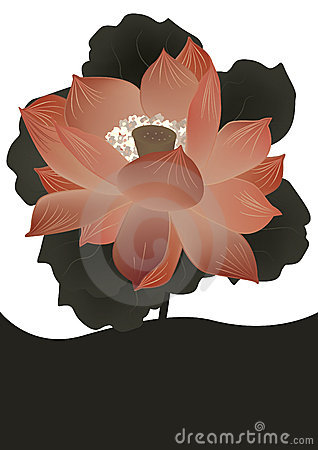 Ancient Lotus Flower Card_eps
