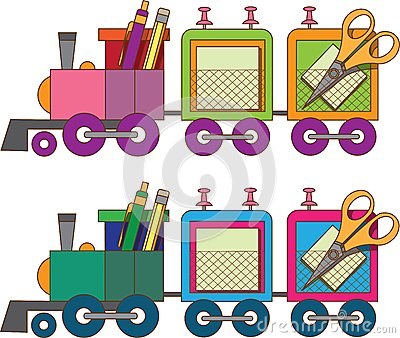 Train toy. Coloring book. Vector.