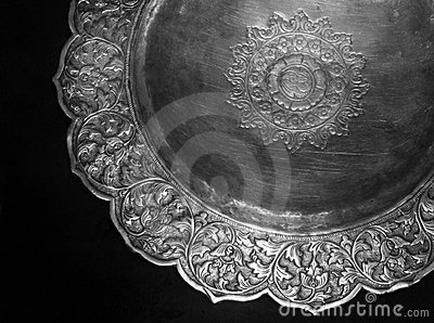 Ancient Malay silver plate