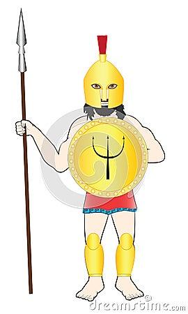 Ancient man warrior