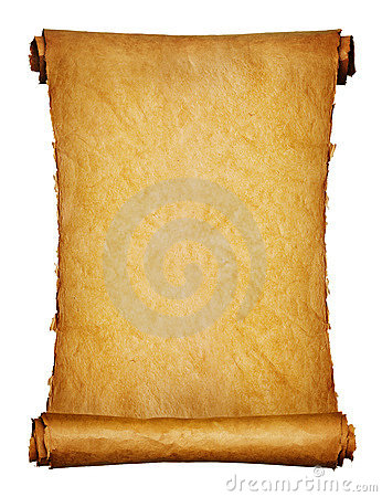 Free Ancient Manuscript Isolated Over A White Royalty Free Stock Images - 9946719