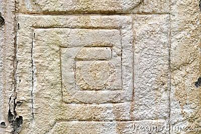 Ancient maya stone relief