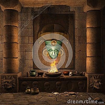 Ancient Mayan altar