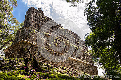 The Ancient Mayan Palace in Yaxchilan