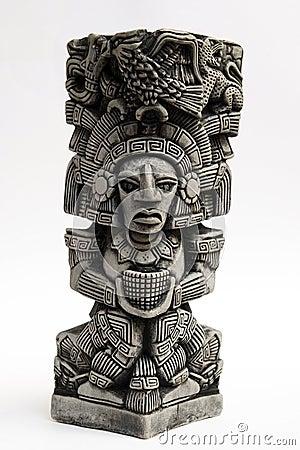 Ancient Mayan Sculpture Stock Image Image 12675291