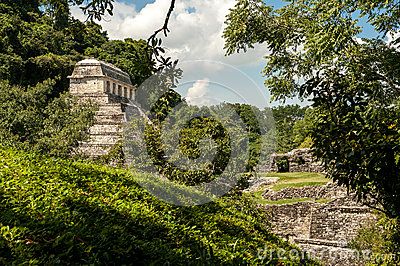 The Ancient Mayan Temple in Palenque