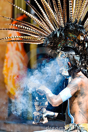 Ancient Mayan Warrior Editorial Photography