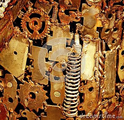 Ancient mechanism detail