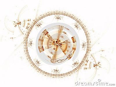 Ancient mechanism, metallic cogwheel