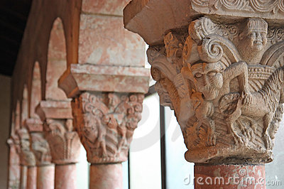 Ancient medieval columns