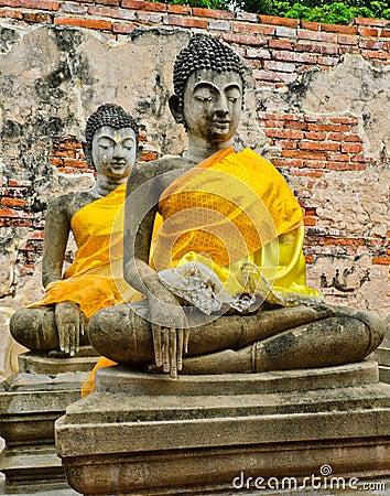 Ancient meditating buddha