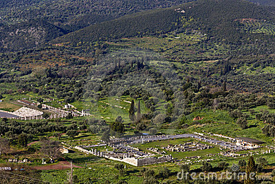 Ancient Messene and the Messene valley at Kalamat