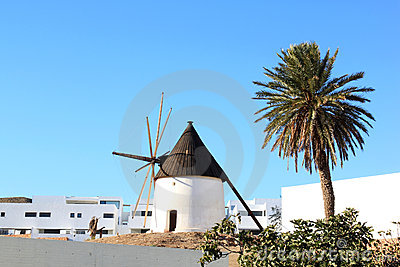 Ancient mill of Las Negras in Andalusia, Spain