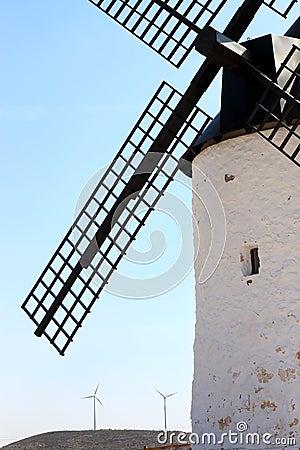 Ancient mill near Pozo Canada, La Mancha, Spain