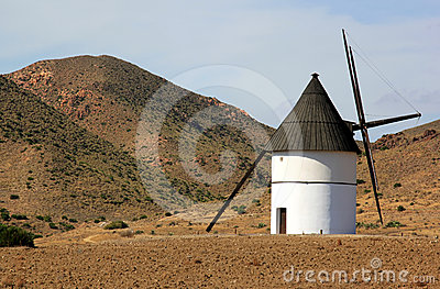 Ancient mill in Pozo de los Frailes, Andalusia