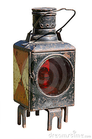 Ancient miners lamp