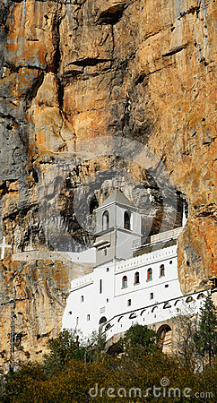 Free Ancient Monastery In High Mountain. Montenegro. Stock Photography - 69277462