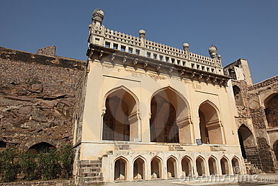 Ancient Mosque at Golconda Fort, Hyderabad