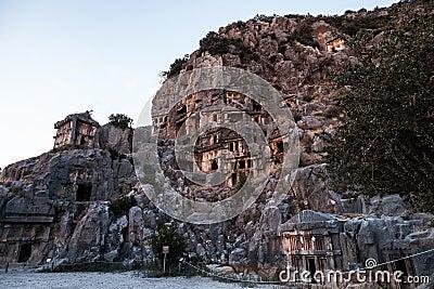 Ancient Myra rock tomb at Turkey Demre