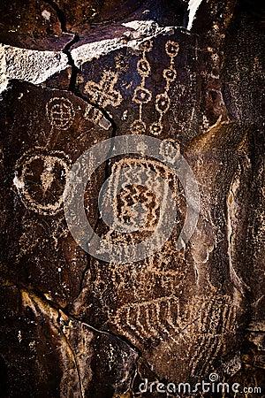 Ancient Native American Petroglyph Rock Art