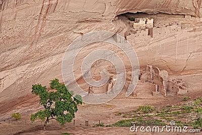 Ancient Navajo indian village