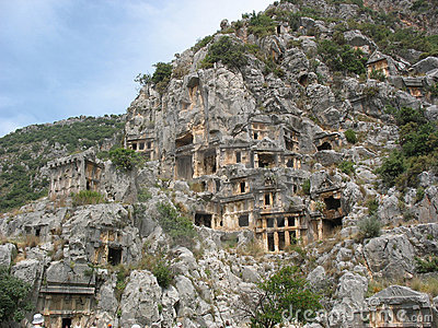 Ancient necropolis in Myra