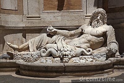 Ancient Neptune Statue Capitoline Museum Rome