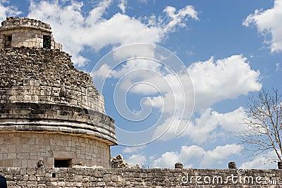 Ancient observatory in Chichen Itza. Fragment.