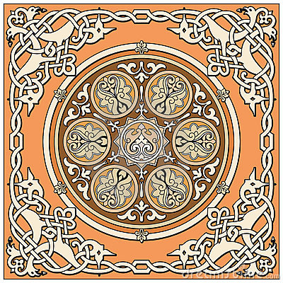 Ancient old russian  pattern