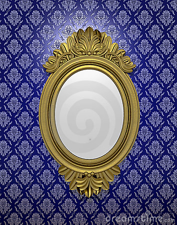 Ancient oval mirror