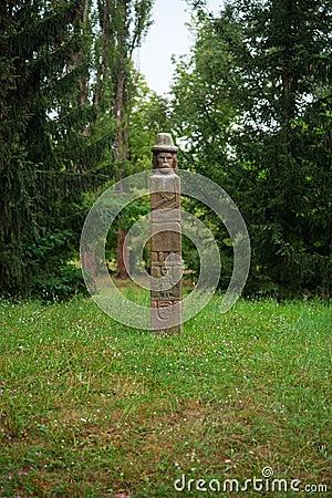 Ancient pagan idol
