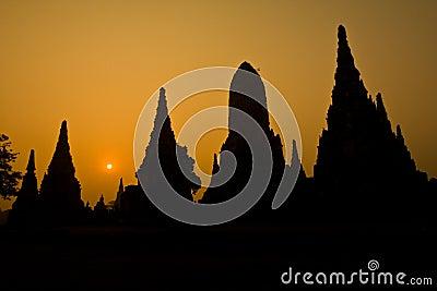 The ancient pagoda of Ayutthaya, Thailand